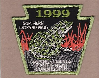 1999 Northern Leopard Frog Patch - Pa Fish & Boat Commission - Keystone Shape