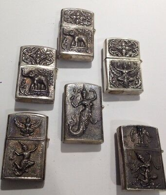 Zippo Lighters Lot Of 6 Vintage