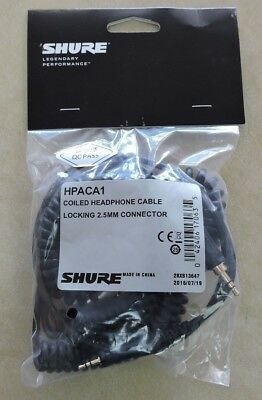 Shure HPACA1 Headphone Coil Cable HPACA1 NEW