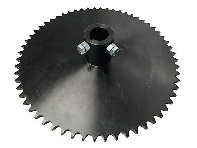 "60 Teeth #40 Chain Pitch Sprocket 1"" Hub Bore Black Go Kart Yerf Dog OD 10"""