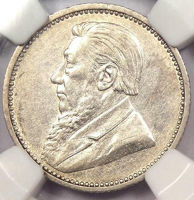 1895 South Africa Zar Sixpence (6P) - NGC XF Details - Rare Date Coin