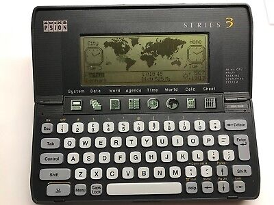 1991   PSION  Series 3 PDA 256K RAM   [Size 16.5cm by 8.5cm by 2.5cm]