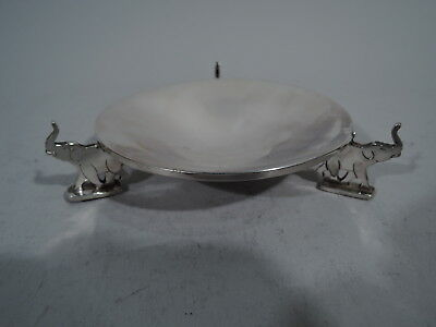 Watson Bowl - A612 - Antique Dish w/ Circus Elephants - American Sterling Silver