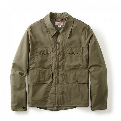 FILSON Men's Bell Bomber Jacket, Staywax Cotton - Made in USA