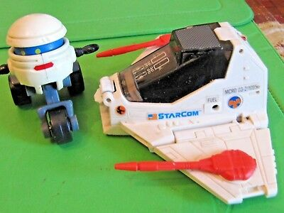 1986 Kenner MASK T-Bob Robot Scooter & Coleco STARCOM Battleship animated TV
