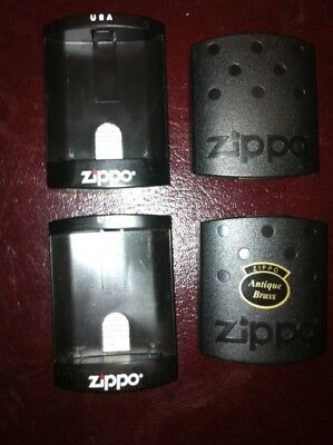 Zippo Lot Of Used Zippo Turtle Back Hard Cases With Original Vintage Papers.#5