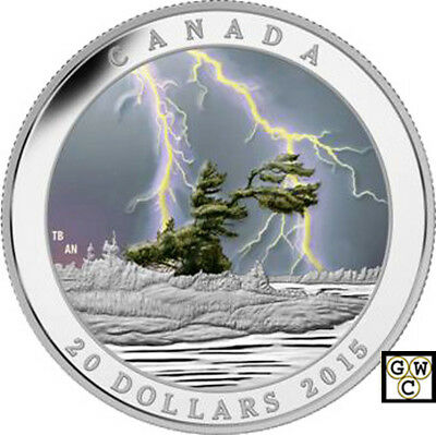 2015'Summer Storm-Weather Phenomenon' Proof $20 Silver Coin 1oz .9999Fine(17335)