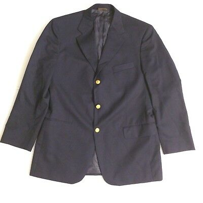 """Brooks Brothers """"346"""" Classic Navy Men's Blazer Gold Buttons Jacket 41R"""