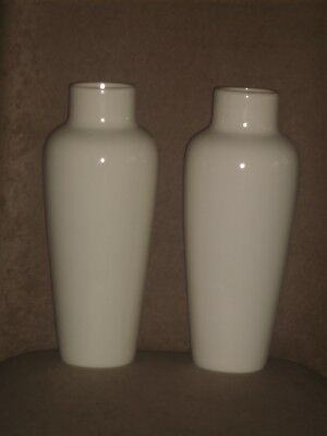 Very Rare Pair Vintage Lenox Ivory Color Tall Vases With Old Blue Mark