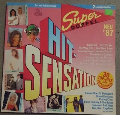 HIT-SENSATION 87 Super Doppel LP Falco, Tina Turner, Sandra, Hornsby, Spagna