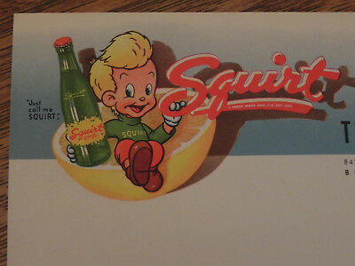 Squirt Soda Sales Letter Feb. 16 1948 Steepelchase Beverly Hills