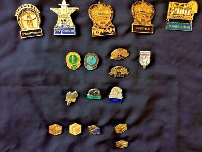 Houston Rodeo Collector Pins - 18 Pins - Assorted From 1980 to 2001
