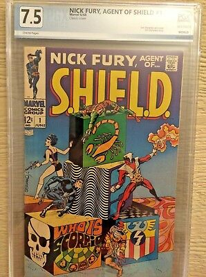 Silver-Age  Nick Fury Agent Of Shield #1 Graded 7.5 Pgx