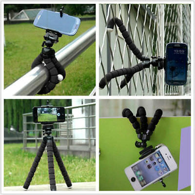 Universal Adjustable Octopus Grip Tripod Stand + Phone Holder for iPhone Samsung