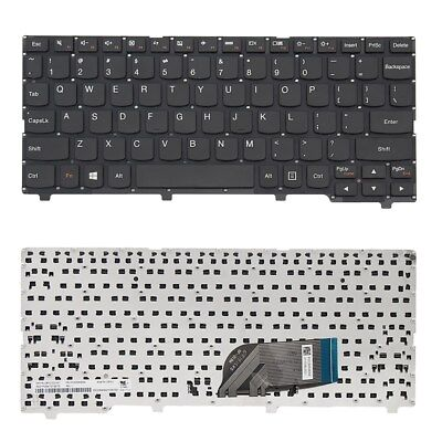 [us] Laptop Keyboard For Lenovo Ideapad 100S-11IBY Layout Black Without Frame