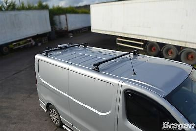 To Fit 2014+ Opel Vauxhall Vivaro MK3 2 Bar Roof Rack Metal Bars Rails + Stops
