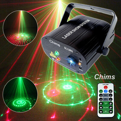 Chims DJ Laser RG 12 Pattern Projector Stage Light LED Home Family Xmas Party
