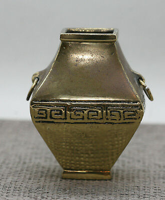 Excellent Quality Vintage Heavy Chinese Gilded Bronze Miniature Urn