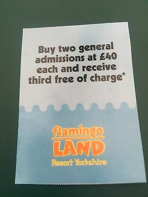 FLAMINGOLAND THEME PARK VOUCHER Save £40