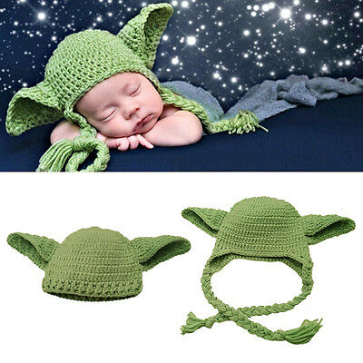 Newborn Babys Girl Elf Hat Cap Cotton Knitted Photography Hats Autumn Warm Hats