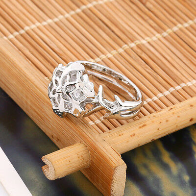 The Lord of the Ring Nenya Galadriel Ring of Water Lort 925 Sterling Silver Ring