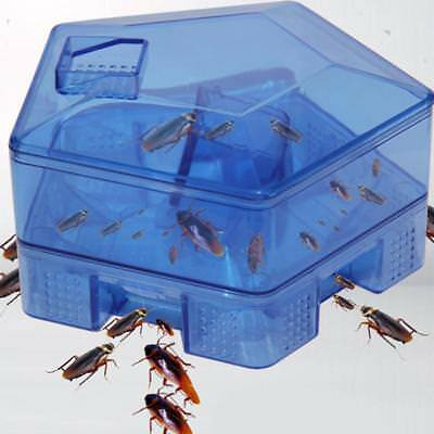 Large Non-Toxic Roach Trap Box Cockroach Killer Kitchen Indoor Outdoor Tool