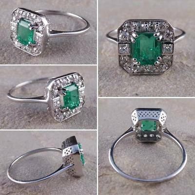 Vintage Art Deco Antique 2 Ct Diamond Engagement French Milgrain Ring Era 1897's