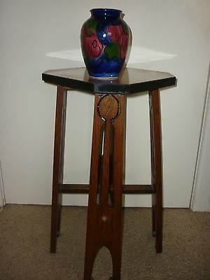 Octagonal Oak Table & Stand(Lamp,statue,vase ) Ver Real Deco Piece Moving Sale!!