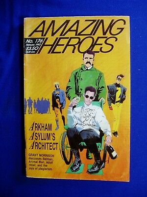 Amazing Heroes 176. Grant Morrison interview. FN-.
