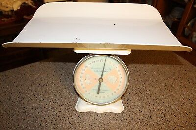 Vintage American Family Nursery Scale w/Original Tags, Basket 30 Lb., Baby Pics