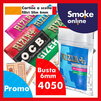 CARTINE CORTE RIZLA OCB ENJOY GIZEH BRAVO REX  SMOKING e 4050 FILTRI BUSTA SLIM