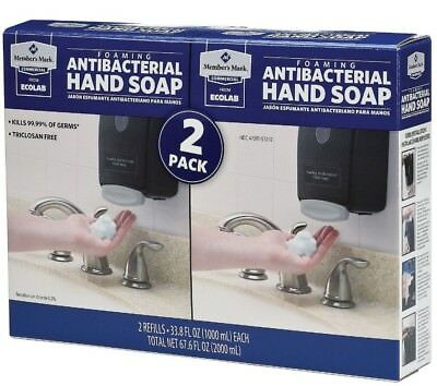 Foaming Hand Soap Dispenser 2 Pack Commercial Liquid Antibacterial Refillable