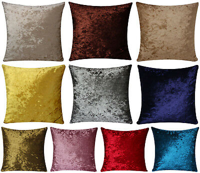 Solid Colours Two Sided Velvet Plain Colours Lush Velvet 18 X 18 Cushion Covers