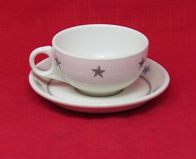 S.S. UNITED STATES Gray Star Cup & Saucer - NAUTIQUES sHiPs WORLDWIDE