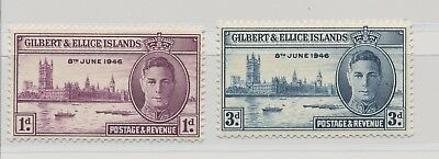 Gilbert & Ellice Islands King George VI 1946 Victory Issue MNH / **