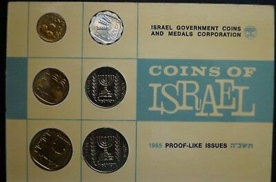 1965 Israel Proof Like Issue Coins 6 Coins $1.25 Shipping