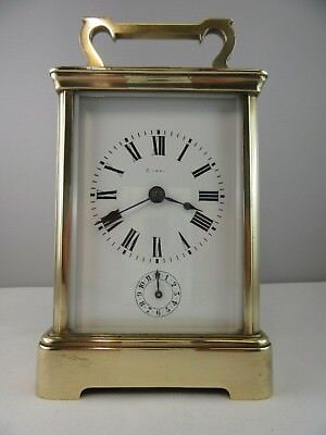 e835 ⭐⭐Antique French Travel Clock UM approx. 1880 (for the English Market) ⭐⭐