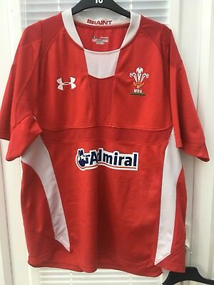 UNDER ARMOUR WALES RUGBY HOME SHIRT WELSH RUGBY SHIRT SIZE Extra LARGE