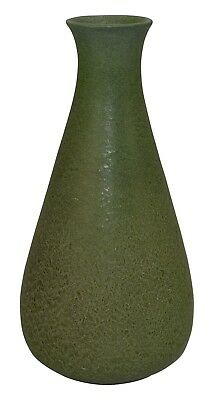 Grueby Pottery Matte Green Arts And Crafts Vase