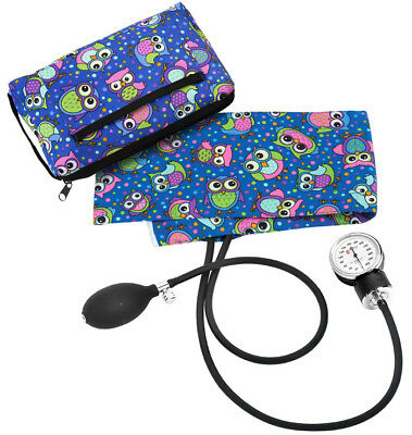 Prestige Medical Blood Pressure Cuff and Carrying Case * Party Owls Royal