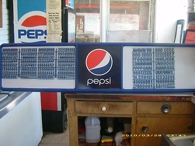 L@@K New 6ft Pepsi Menu Board w/4 sets of letters,numbers & symbols