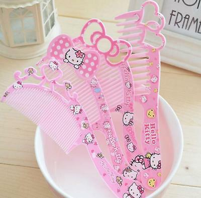 1pcs Kawaii Pink Hello kitty Bow Hair Beauty Comb Hairdressing Gift for Girl