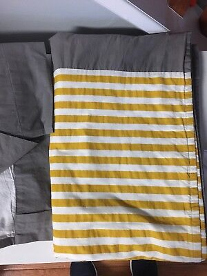 Land Of Nod Curtains Not A Peep Yellow And Gray