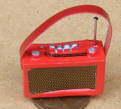 1:12 Scale Red Resin Portable Radio Dolls House Miniature Kitchen Accessory