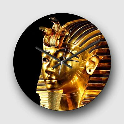 Large 32cm Analog Wall Clock - Tutankhamun Egypt Egyptian Mummy - Silent Quartz
