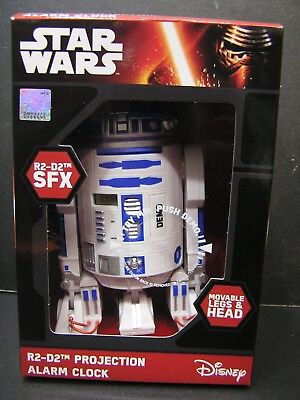 Disney Star Wars R2-D2 Projection Alarm Clock w/ Sound Posable Legs & Head