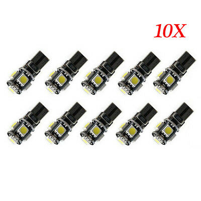 10X 12V T10 5 SMD LED 501 194 Canbus Lampe Glassockel Innenraum Beleuchtung weiß