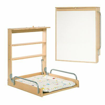 Wall diaper changer with folding mattress Color Natur Roba Practico Bebe Germany