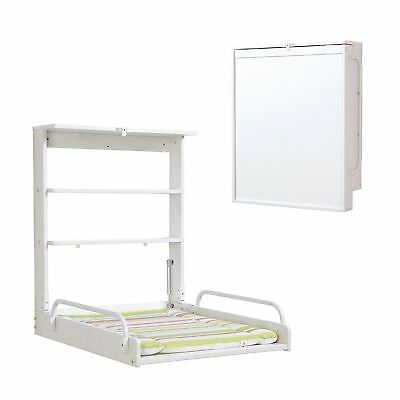 Wall diaper changer with folding mattress Color White Roba Practico Bebe New