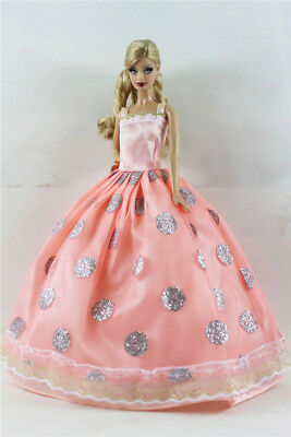 Fashion Princess Party Dress/Evening Clothes/Gown For Barbie Doll B02